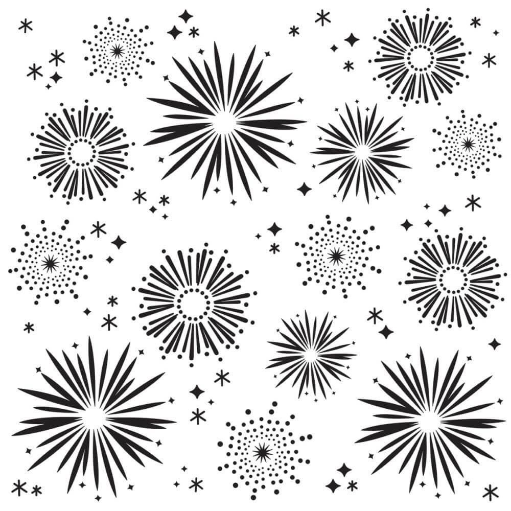 "Stencil 6"" x 6"" Say Cheese 4 Fireworks"