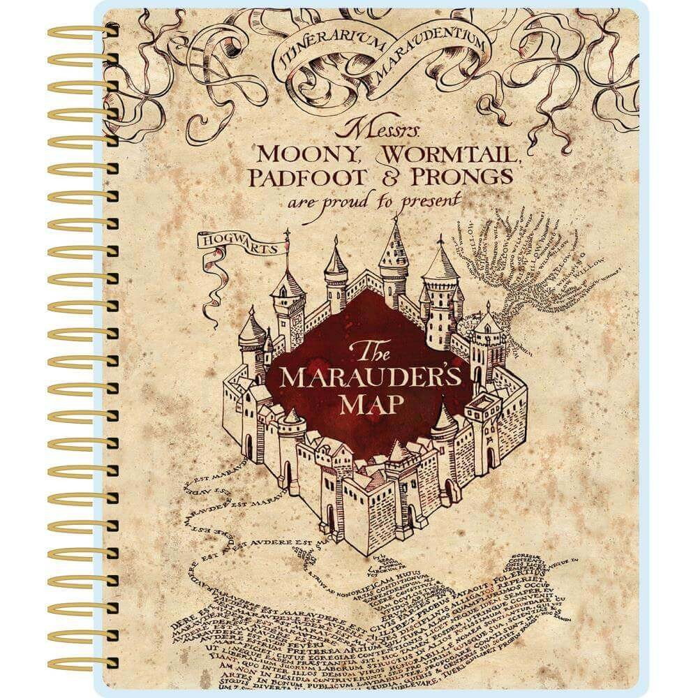 Kit Agenda Harry Potter Marauder's Map (Perpetuo 12 meses)