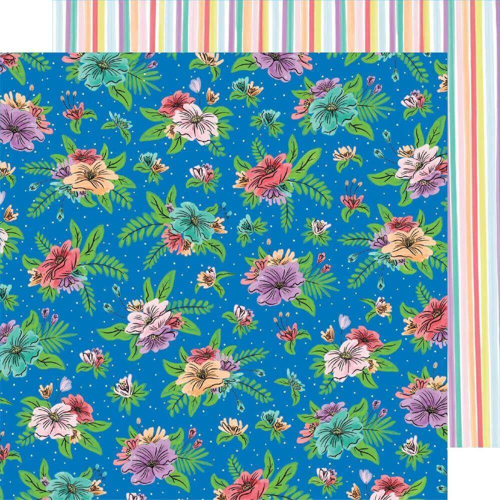 Papel Estampado Doble Cara 12x12 Stay Sweet Flower Fun