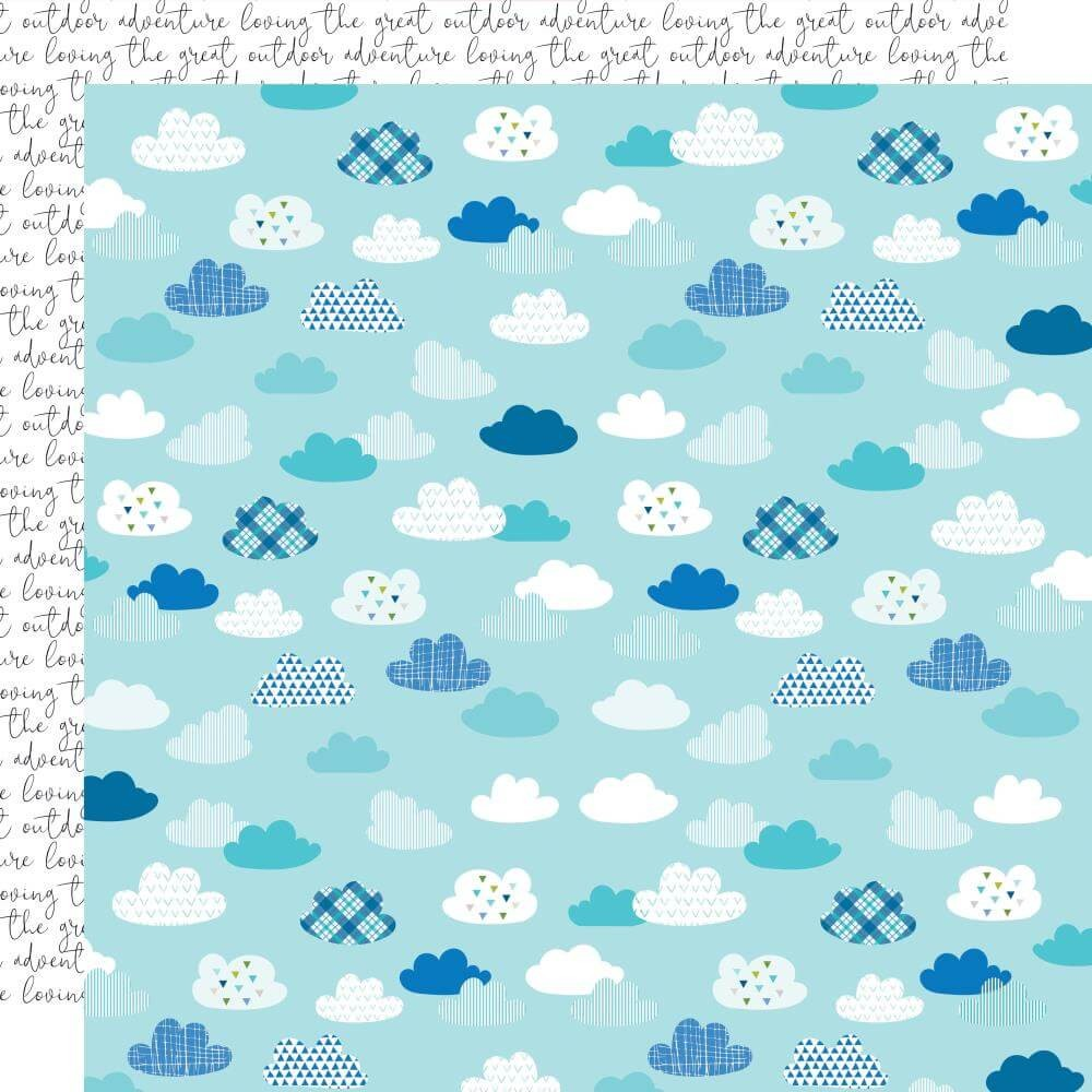 Papel Estampado Doble Cara 12x12 Let's Go On An Adventure No Wifi Script