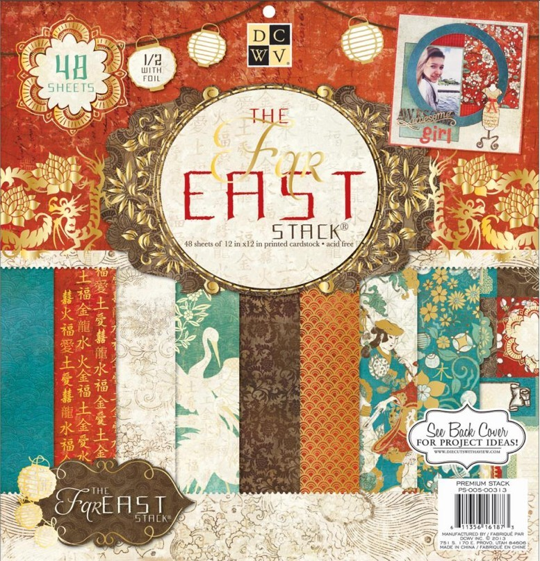 Stack papeles estampados 12x12 The Far East 2