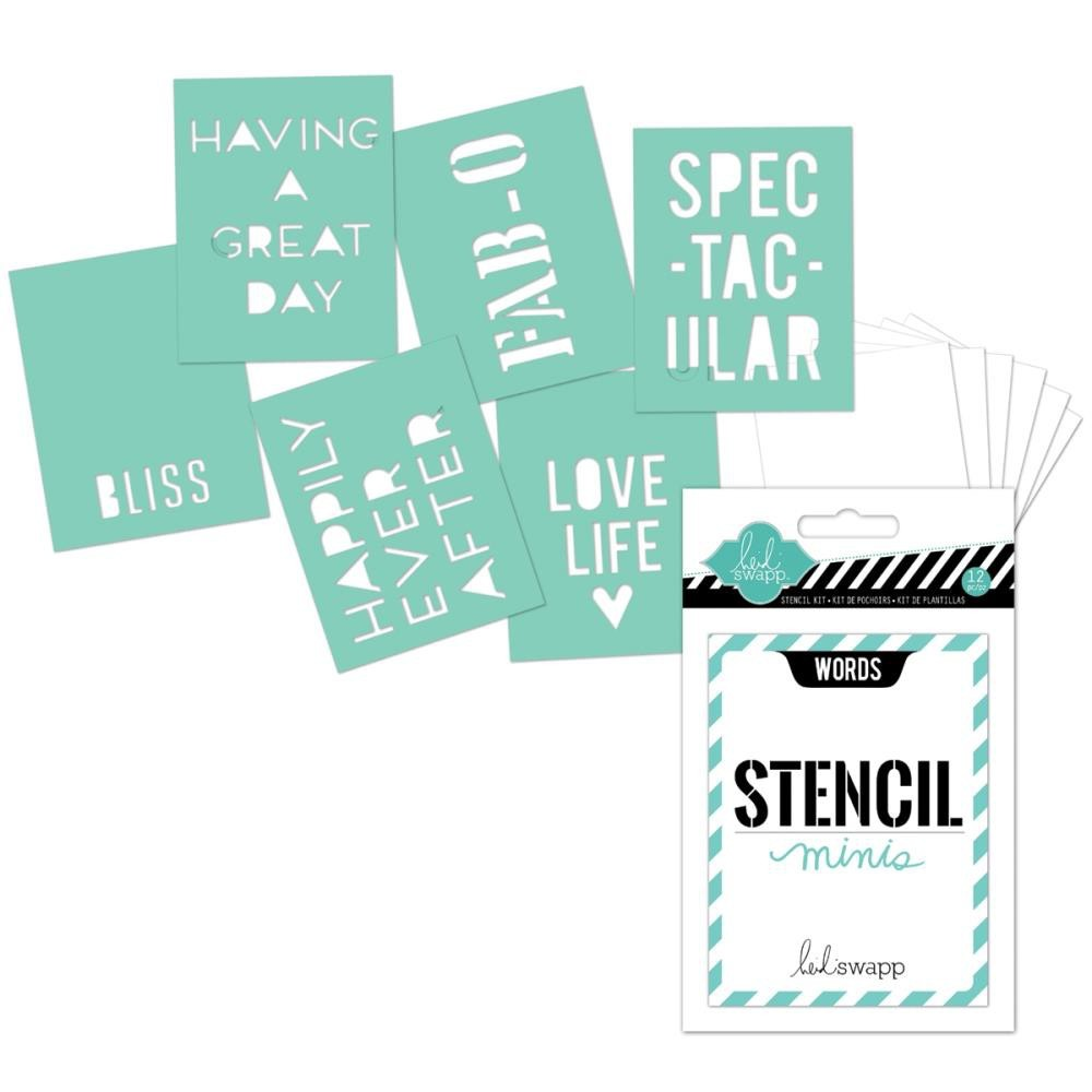 Heidi Swapp Stencil Minis Words