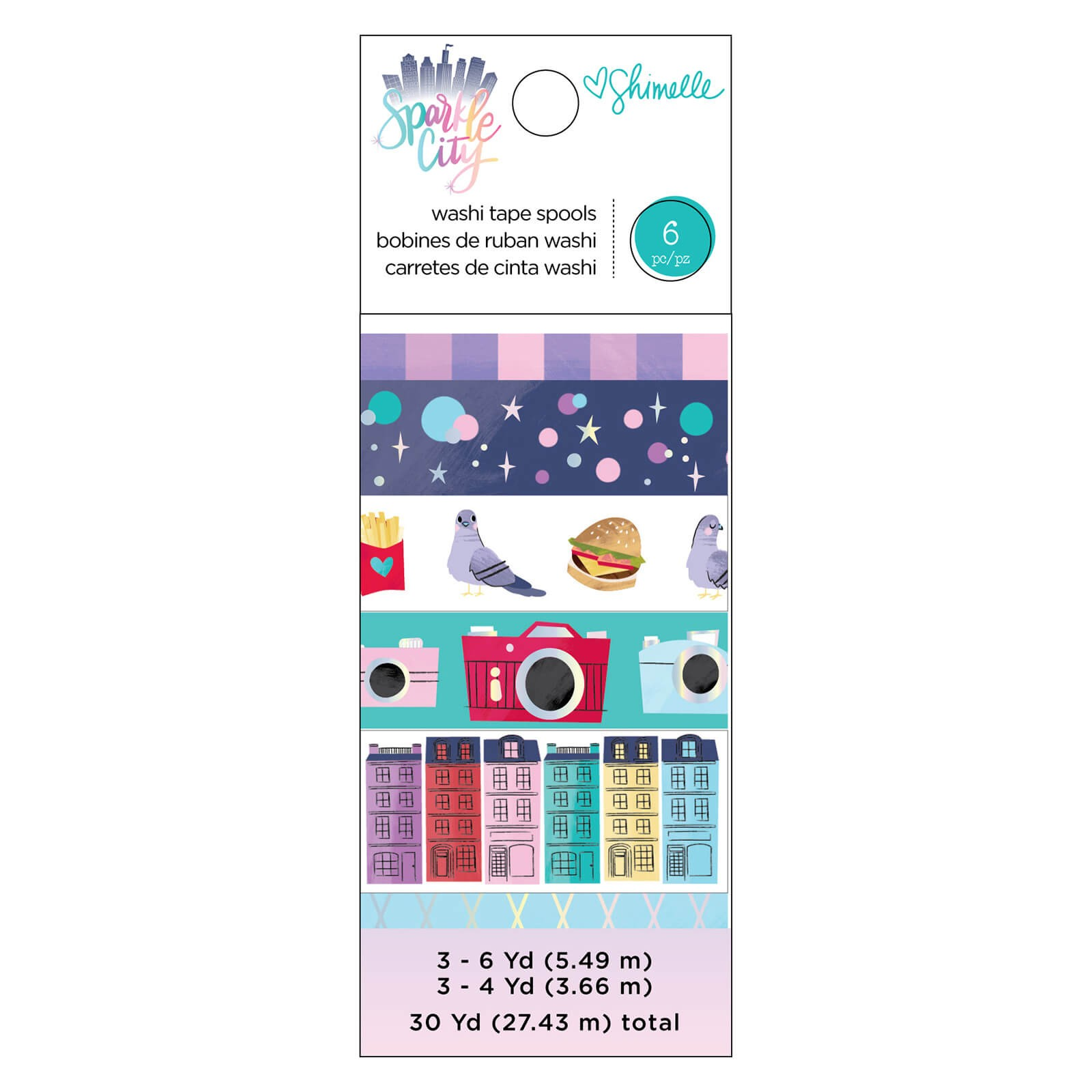 Set de Washi Tape Sparkle City
