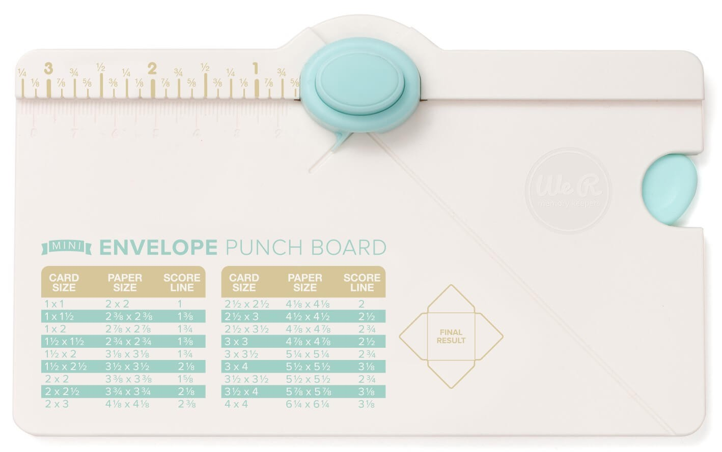 Mini Envelope Punch Board