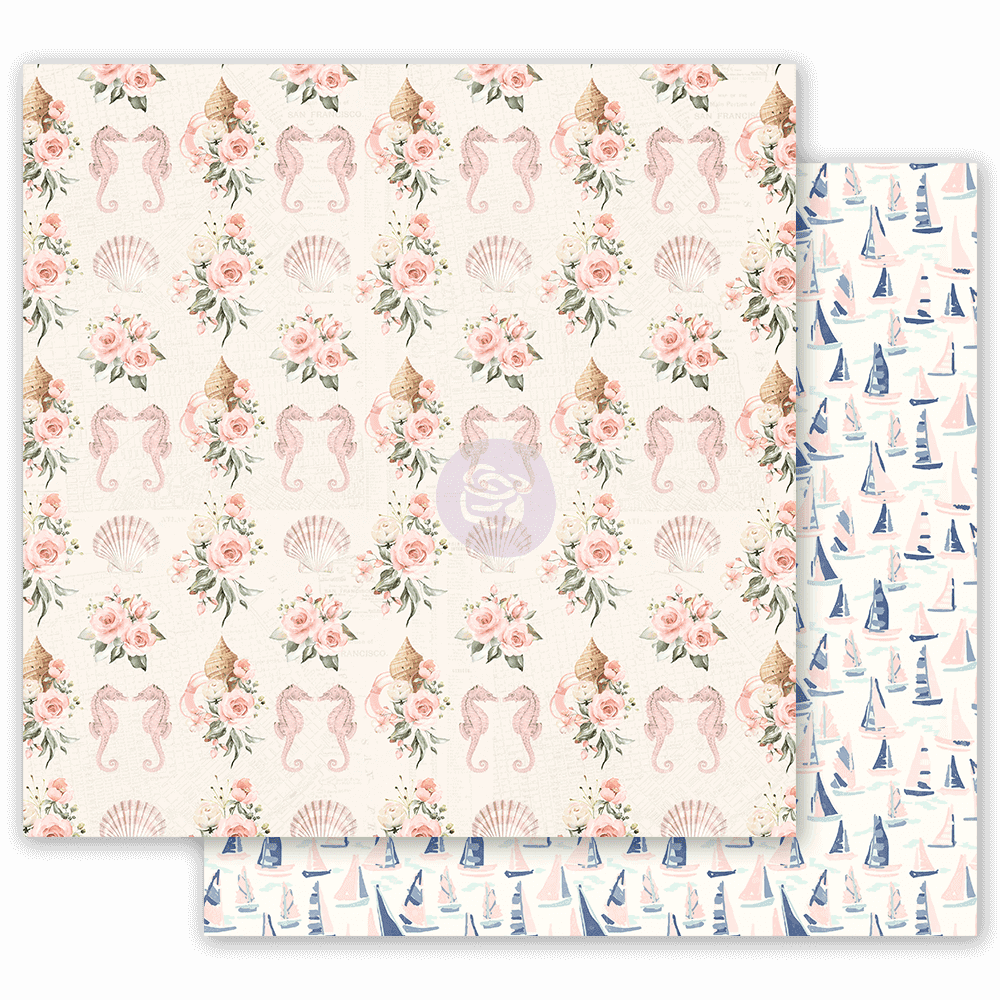 Papel Estampado Doble Cara 12x12 Golden Coast Gold Feeling
