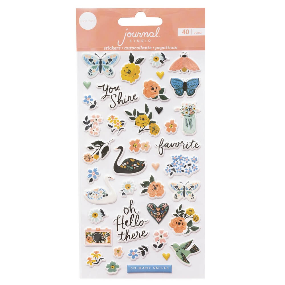 Pegatinas Puffy Journal Studio Swan By Crate Paper