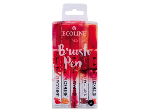 Set 5 Rotuladores Ecoline Brush Pen Rojo