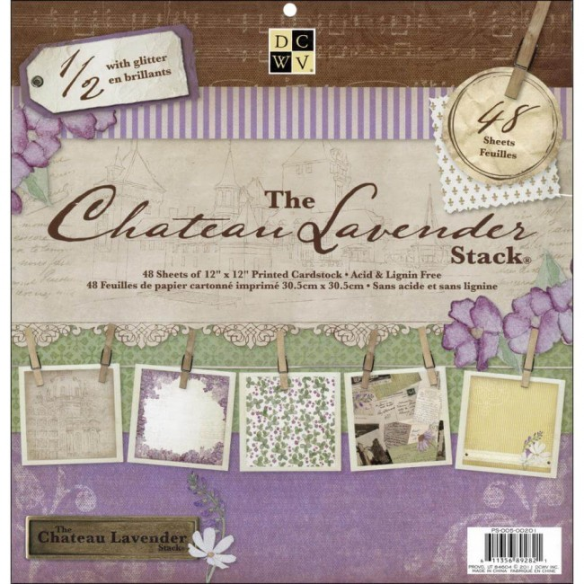 Stack Papeles Estampados 12x12 The Chateau Lavender