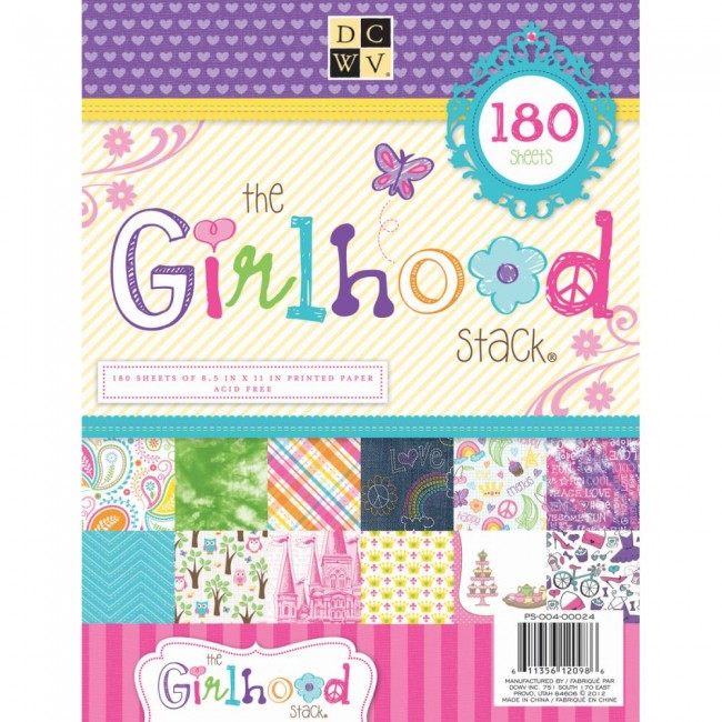 Stack 180 papeles estampados 8.5x11 The Girlhood