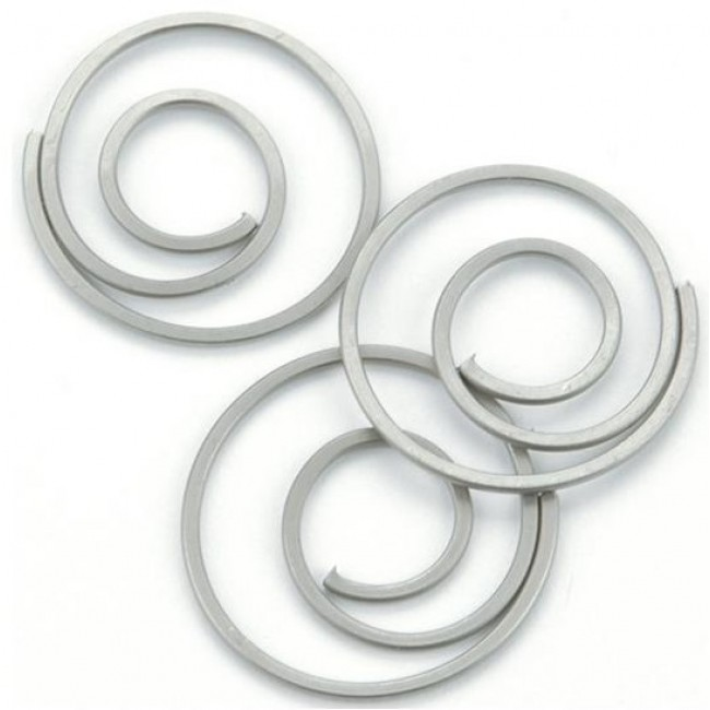 Pewter Spiral Clips