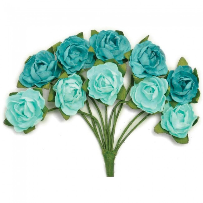 Mini Flores de papel   Sea Breeze