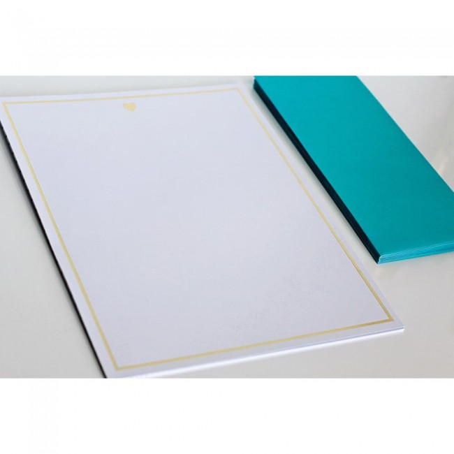 Heart Foiled Stationery -40% DESCUENTO
