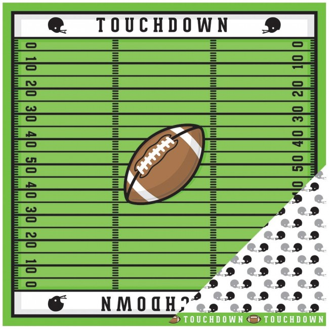 Papel estampado Doble cara 12x12-Basics-Football Field