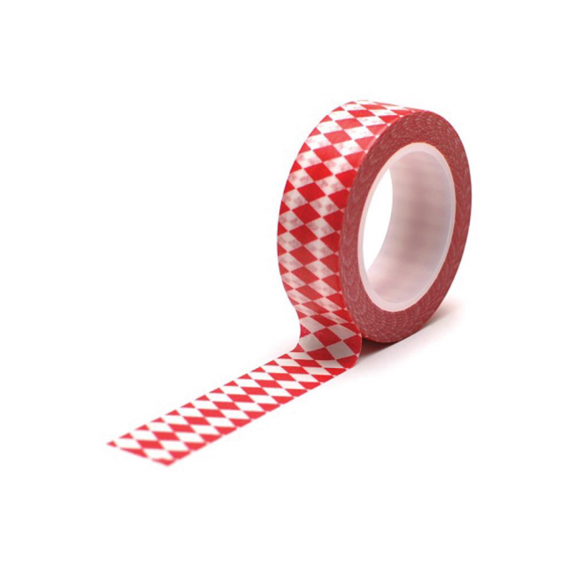 Washi Tape Diamonds Red