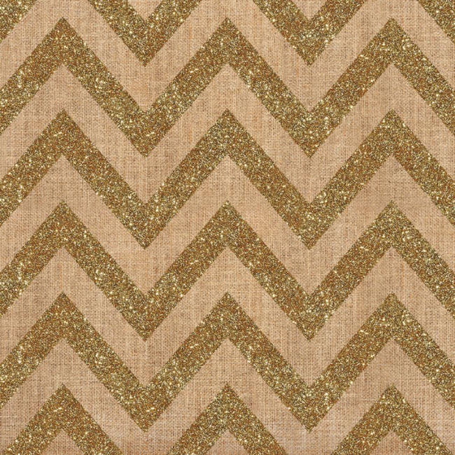 Papel estampado Una cara 12x12 Craft Market Chevron W/Gold Glitter
