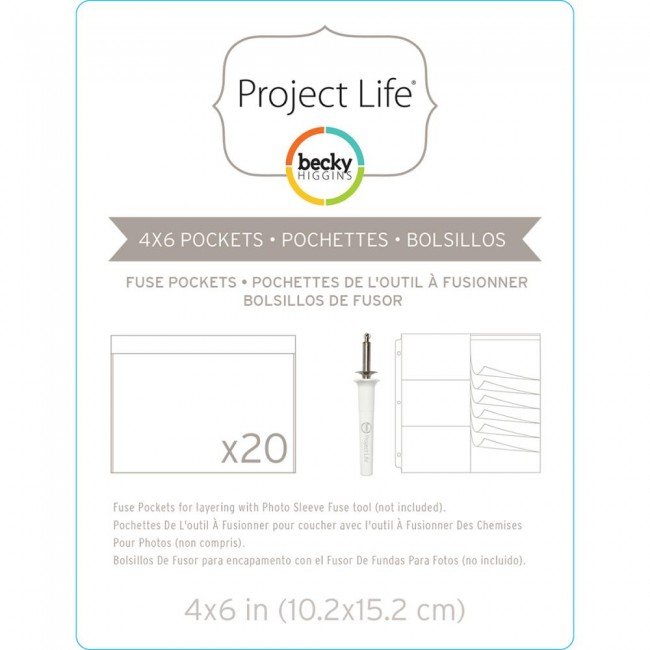 "Project Life Fuse Pockets 4"" x 6"" Horizontal"