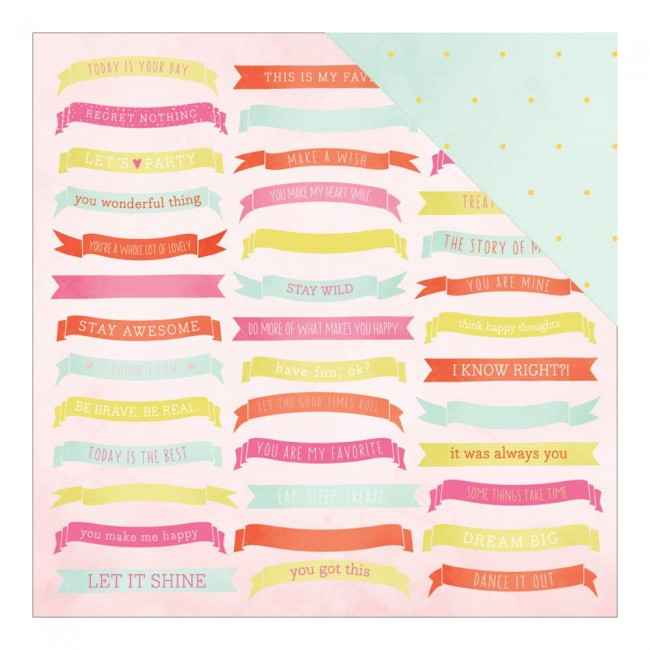 Papel estampado Doble cara 12x12-Fine & Dandy DL-Celebrate
