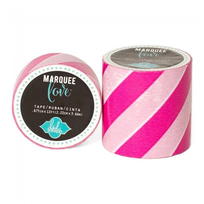 Marquee Washi Pink & White Stripe S