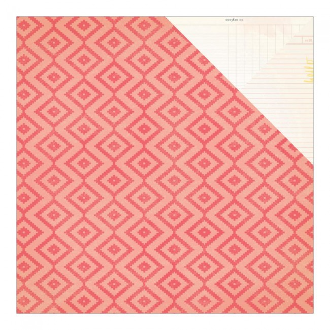 Papel estampado Doble cara 12x12-Poolside-Heat Wave