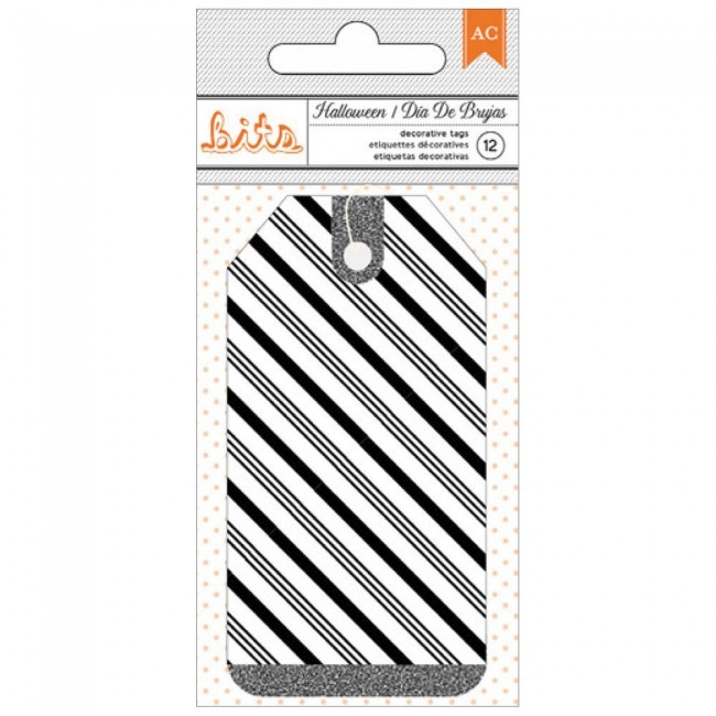 Diagonal Stripe Tags Halloween