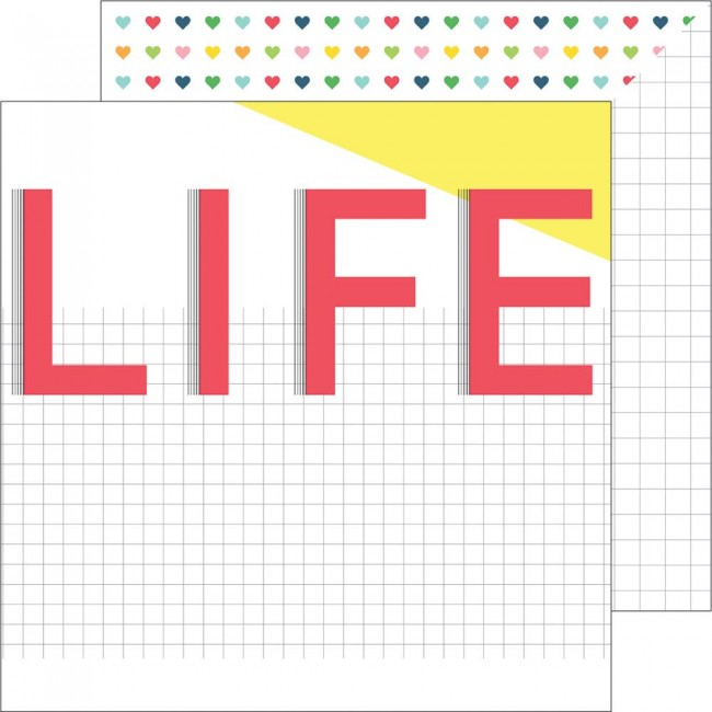 Papel estampado Doble cara 12x12 Life Noted This Life