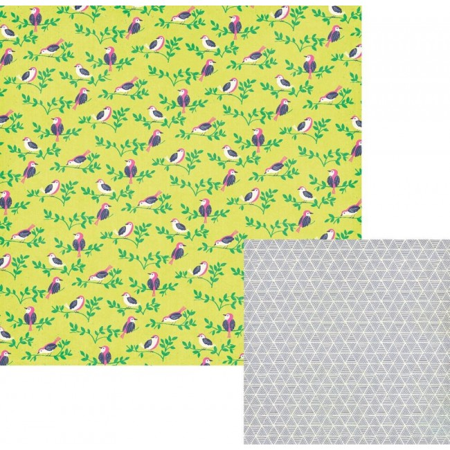 Papel estampado Doble cara 12x12-Flower Girl-Finch