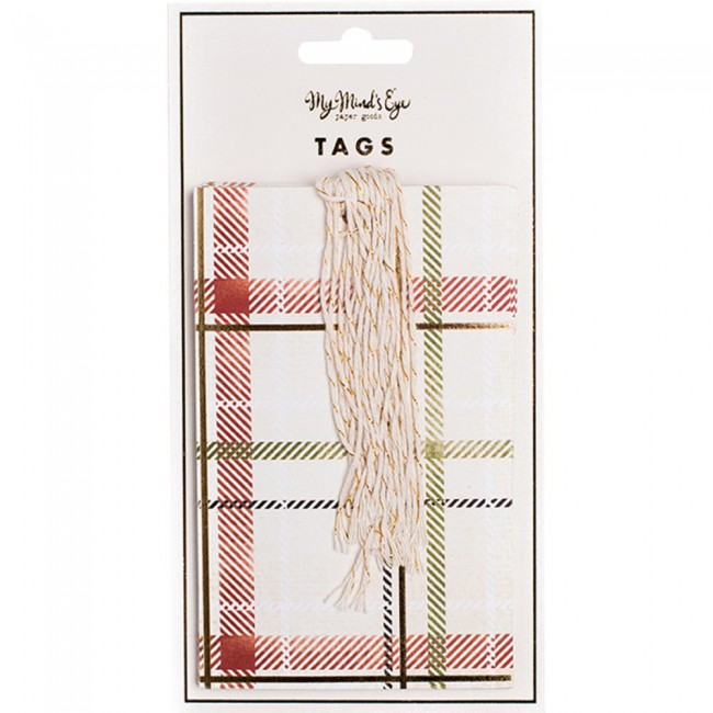 Plaid Tags Rectangulares