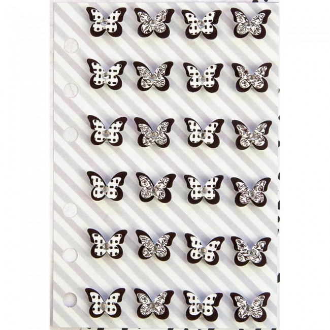 Pegatinas My Prima Planner   #1 Butterflies Black & White