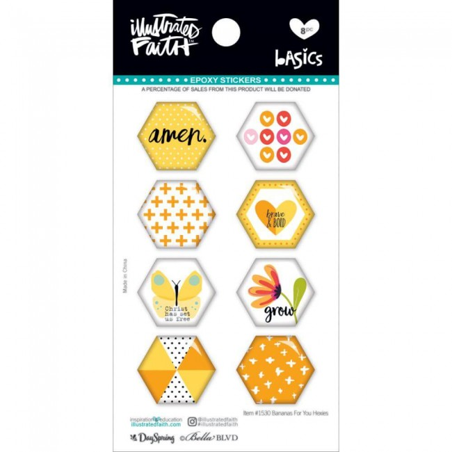Pegatinas Epoxy Basics   Hexies Bananas For You