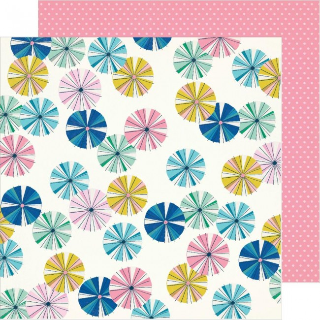 Papel Estampado Doble Cara 12x12 Sunny Days Parasol