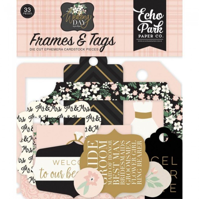 Die Cuts Wedding Day Frames & Tags
