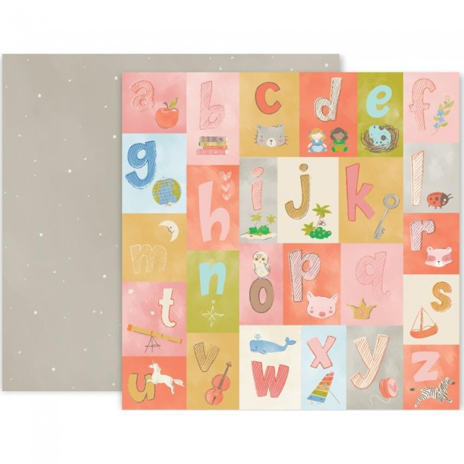Papel Estampado Doble cara 12x12 Little Adventurer Paper 4