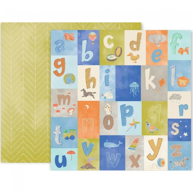 Papel Estampado Doble cara 12x12 Little Adventurer Paper 11