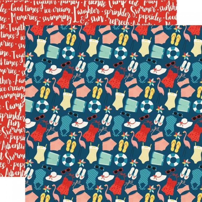 Papel Estampado Doble Cara 12x12 Good Day Sunshine Summertime