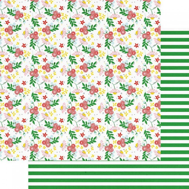 Papel Estampado Doble Cara 12x12 The Bright Side Coming Up Roses