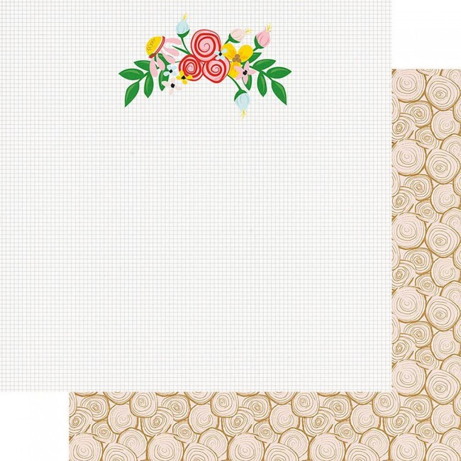 Papel Estampado Doble Cara 12x12 The Bright Side Natural Beauty