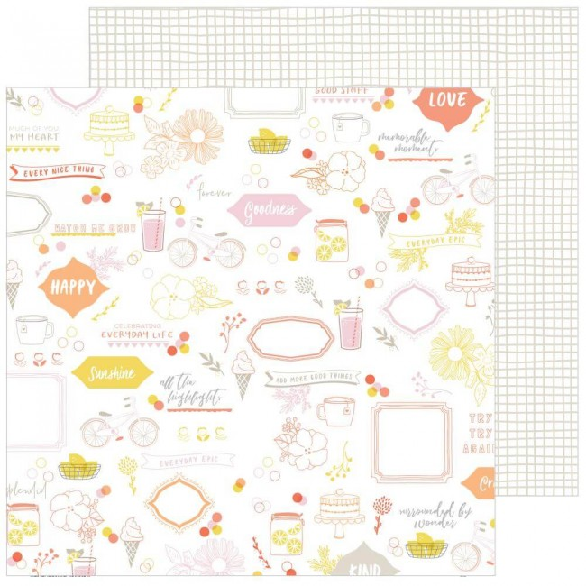 Papel Estampado Doble Cara 12x12 Simple & Sweet Sweet Life