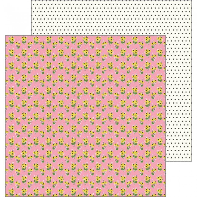 Papel Estampado Doble Cara 12x12 My Bright Life Sunflower