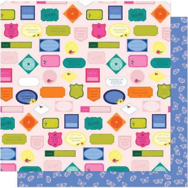 Papel Estampado Doble Cara 12x12 Head In The Clouds Let's Sign Up