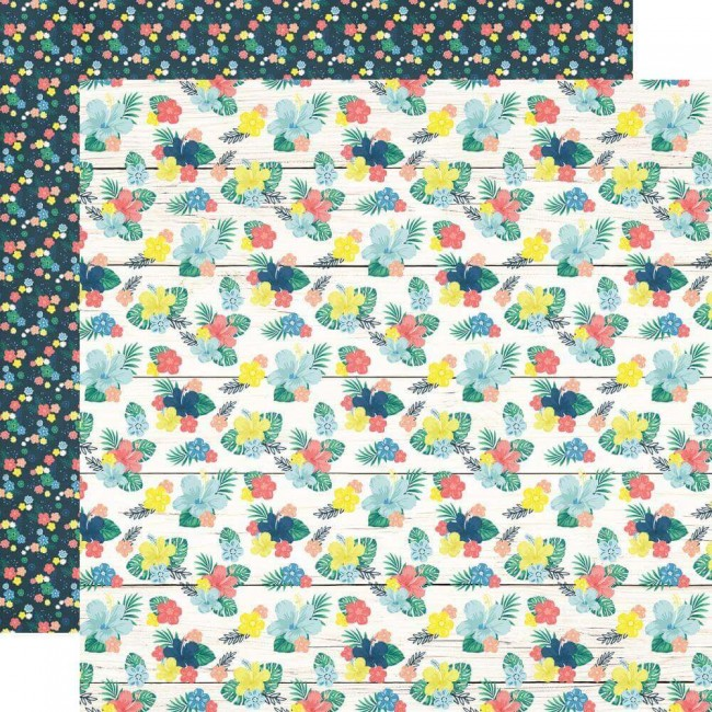 Papel Estampado Doble Cara 12x12 Sunshine & Blue Skies On Holiday
