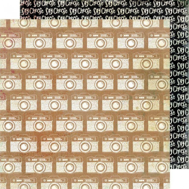 Papel Estampado Doble Cara 12x12 Color Kaleidoscope Say Cheese