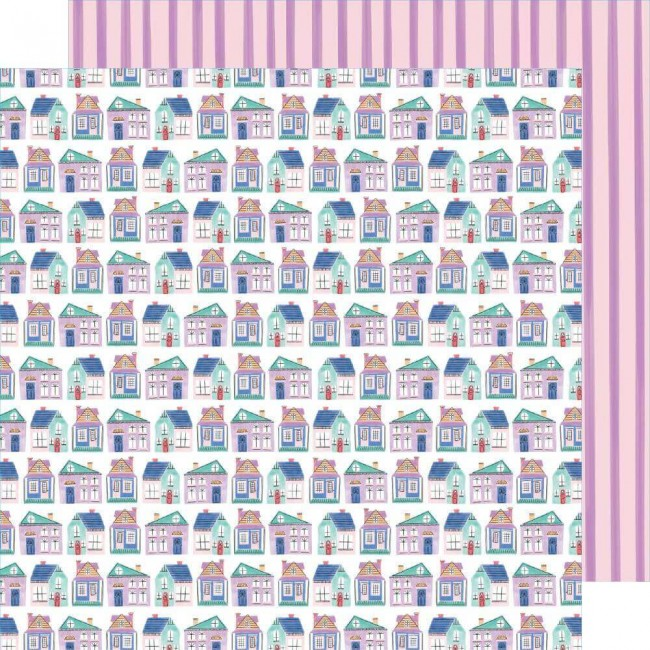 Papel Estampado Doble Cara 12x12 Stay Sweet Cozy Cottages