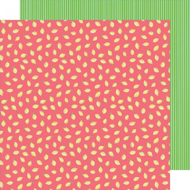 Papel Estampado Doble Cara 12x12 Stay Sweet Pink Lemon Party