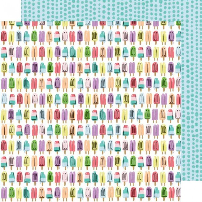 Papel Estampado Doble Cara 12x12 Stay Sweet Popsicle Summer