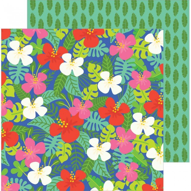 Papel Estampado Doble Cara 12x12 Chasing Adventures Aloha