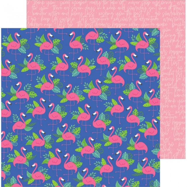 Papel Estampado Doble Cara 12x12 Chasing Adventures Paradise