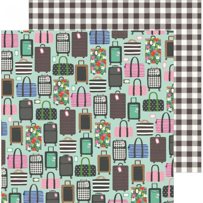 Papel Estampado Doble Cara 12x12 Chasing Adventures Ready Set Go