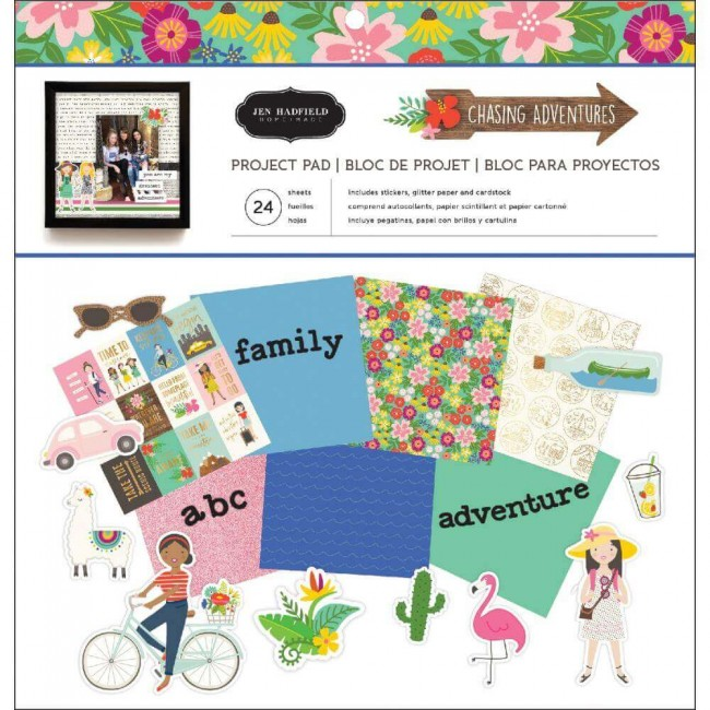 Stack Papeles Estampados 12x12 Chasing Adventures Project Pad