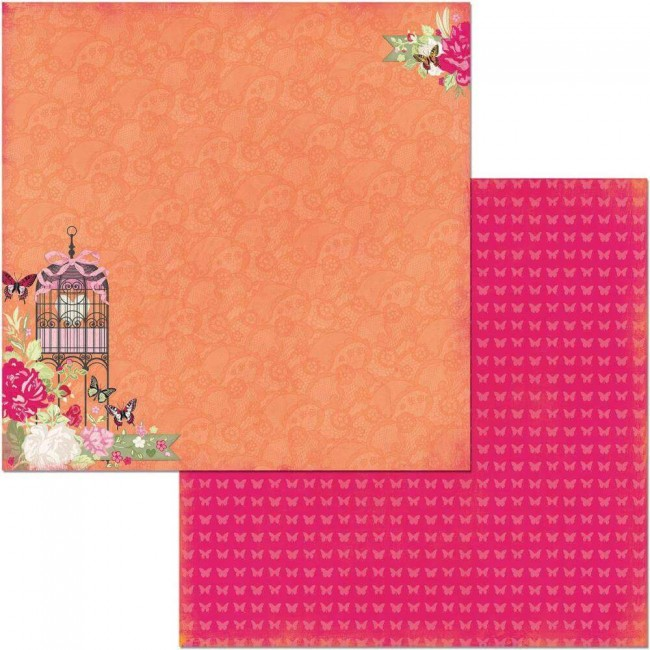Papel Estampado Doble Cara 12x12 Sweet Clementine Sweet Clementine
