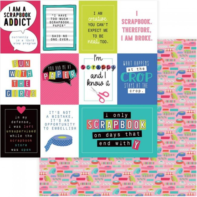 Papel Estampado Doble Cara 12x12 You Had Me At Paper Scrapbook Addict